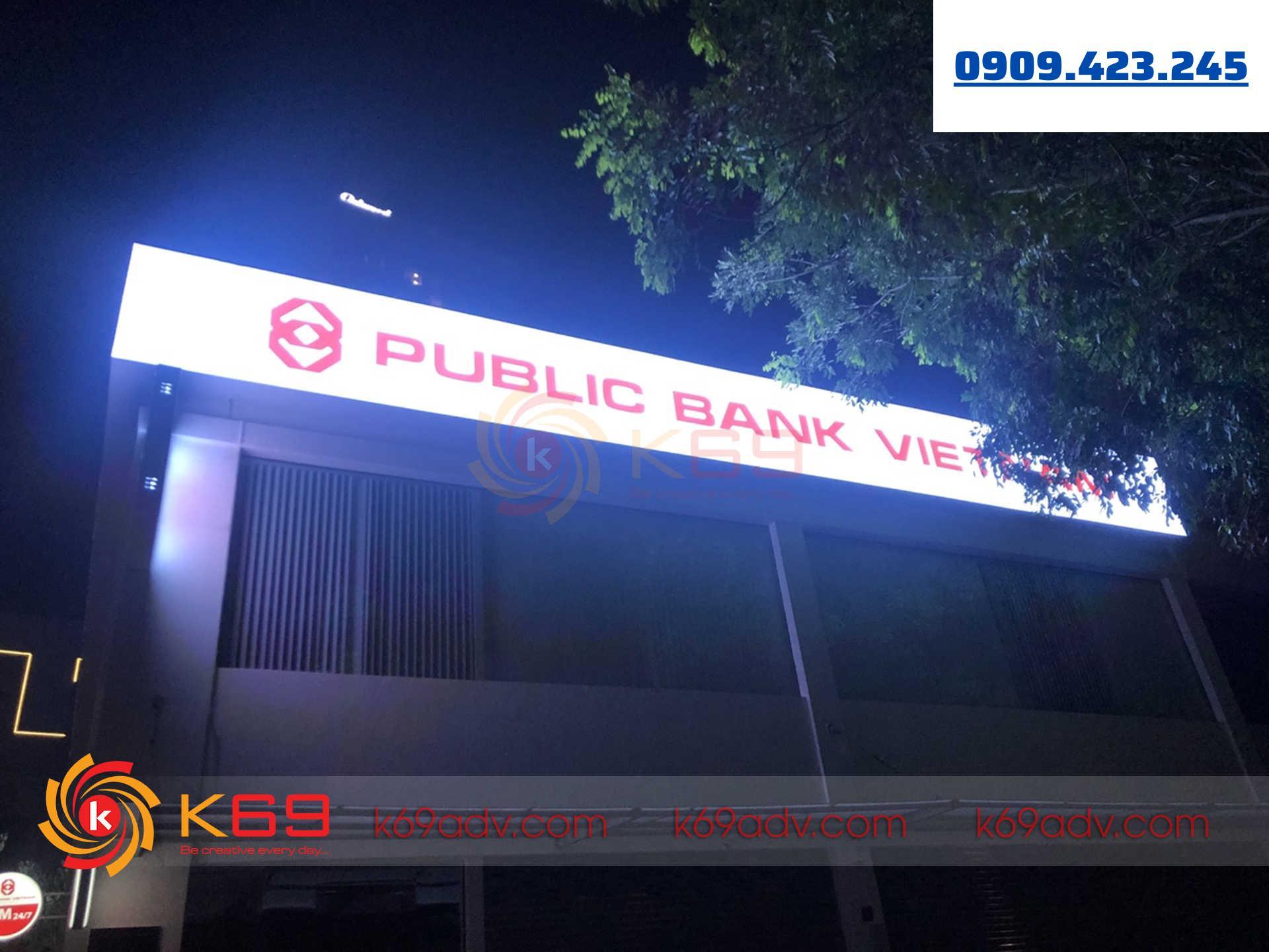 Làm bảng hiệu hộp đèn bạt 3m cao cấp tại K69ADV