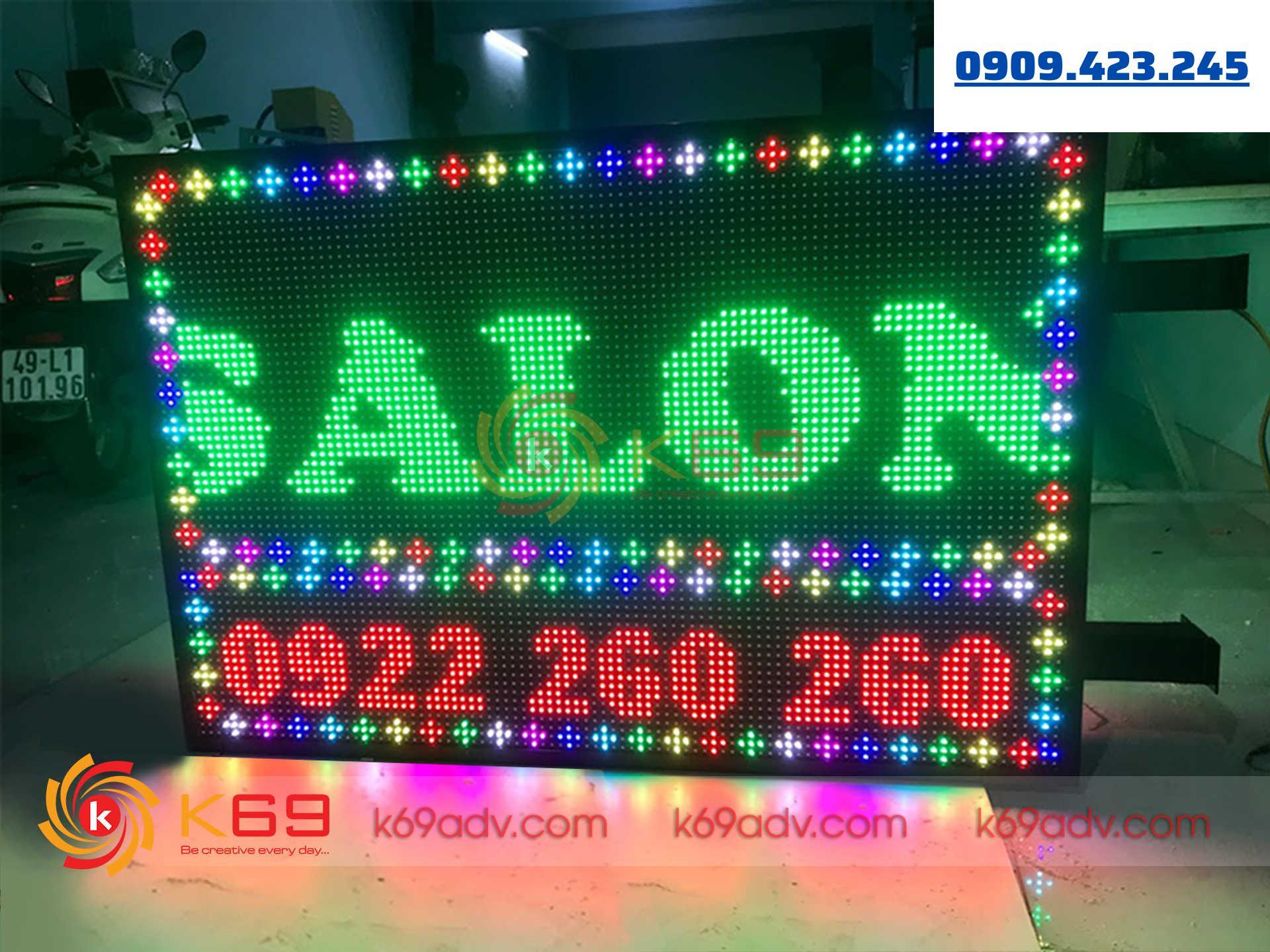 Làm bảng hiệu hộp đèn led matrix tại K69ADV
