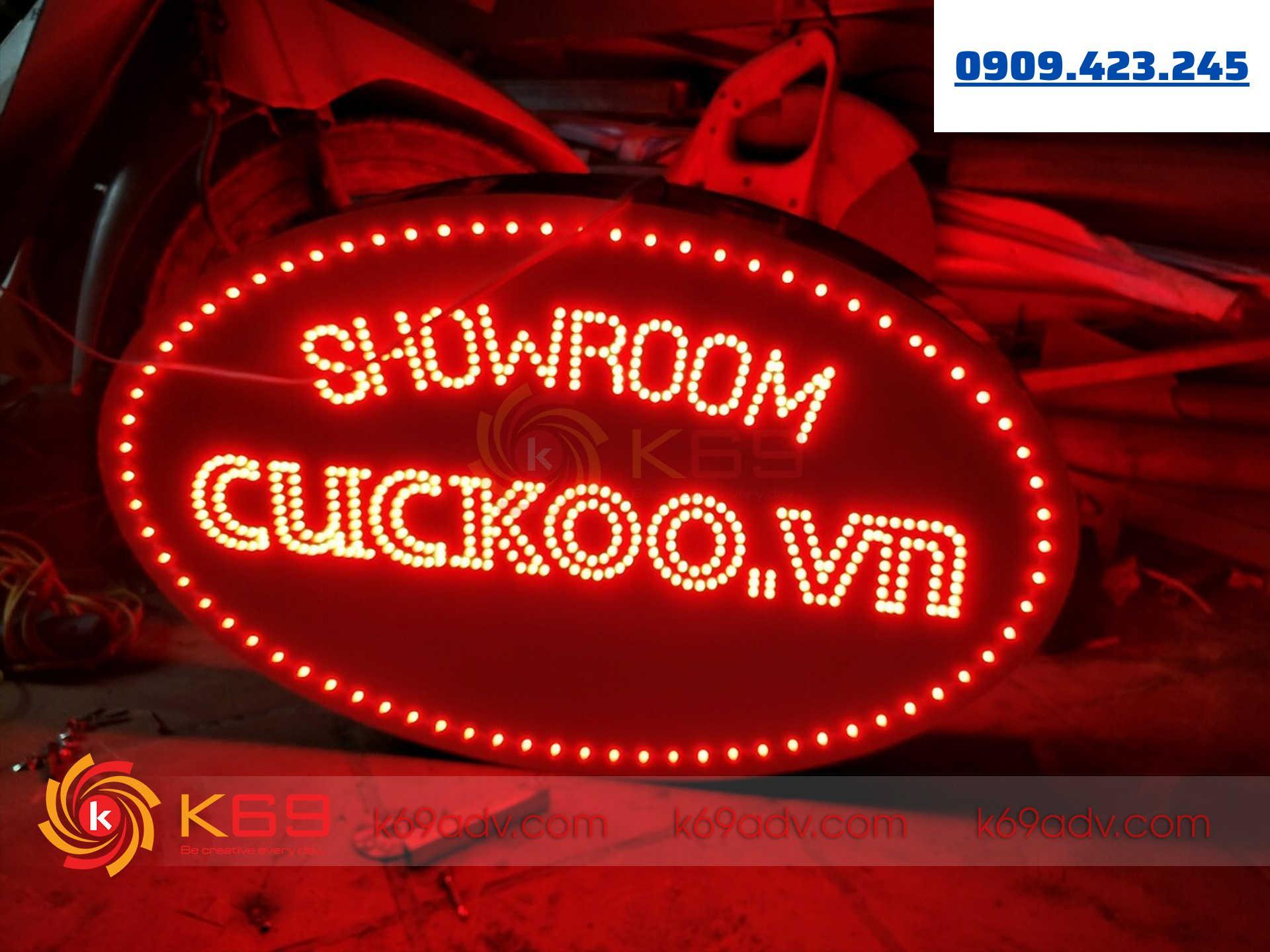 Làm bảng hiệu hộp đèn led nháy tại K69adv