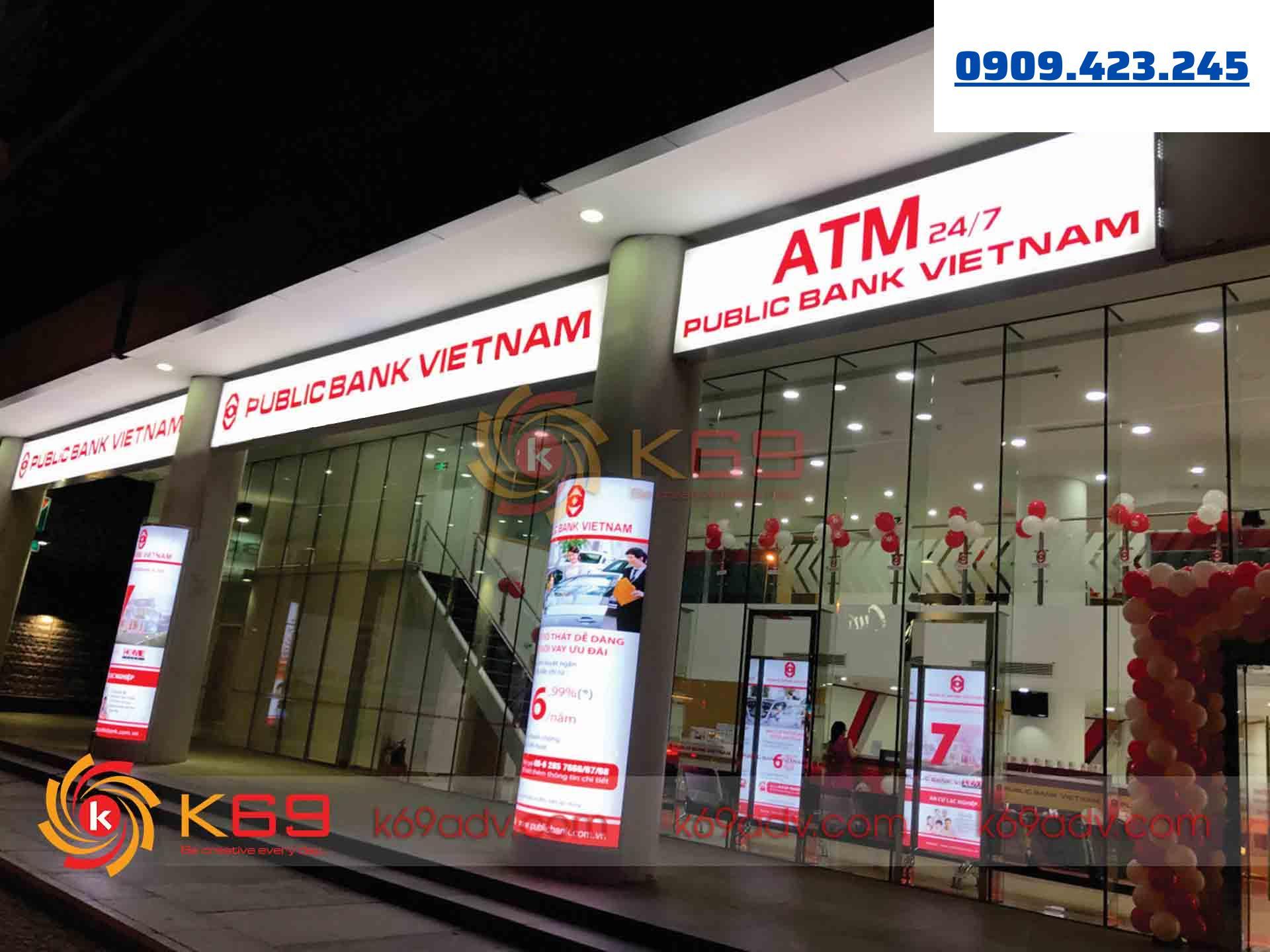 Làm bảng hiệu tại quận 7 ngân hàng public bank việt nam tại K69adv