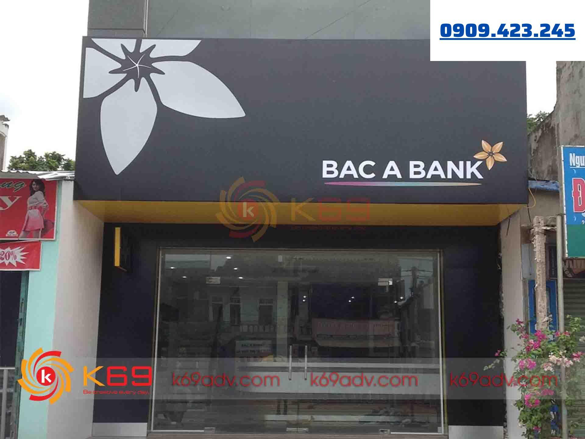 Mẫu bảng hiệu Alu cho ngân hàng Bắc Á thi công bởi K69ADV
