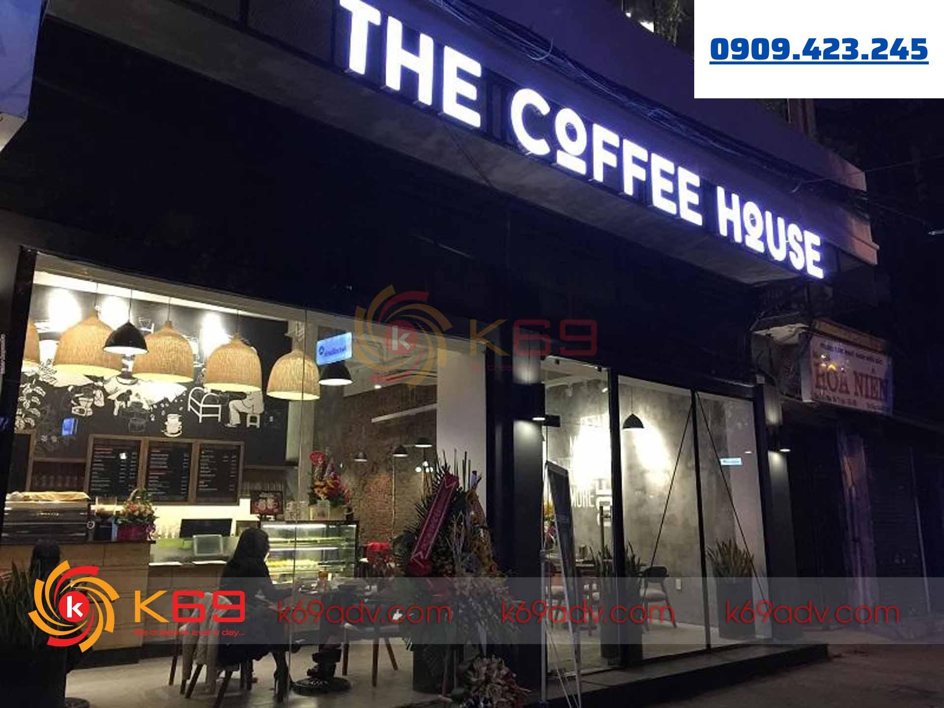 bảng hiệu quán cafe đẹp mà K69ADV đã thi công