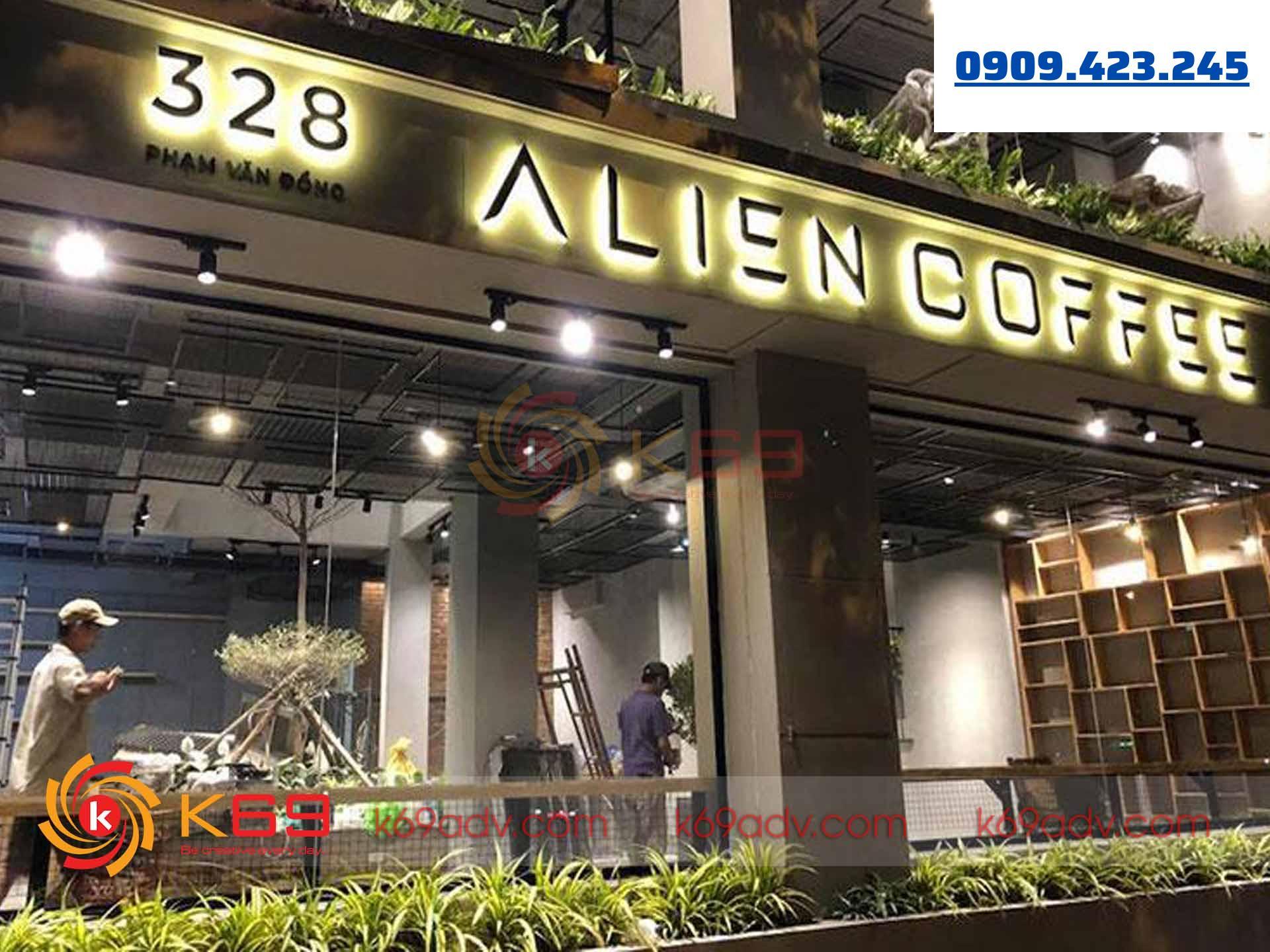 mẫu bảng hiệu quán cafe