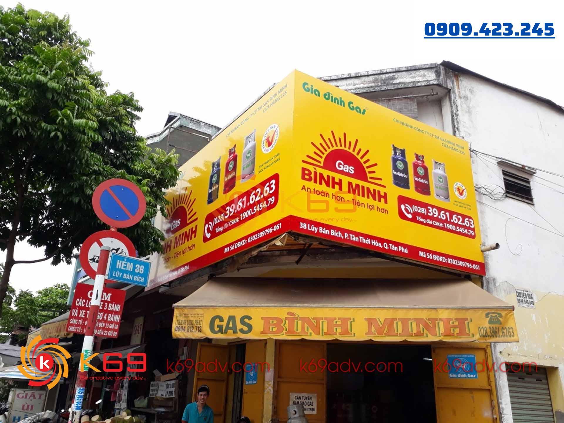 Làm bảng hiệu bạt hiflex tại quận Tân Phú do K69adv thi công