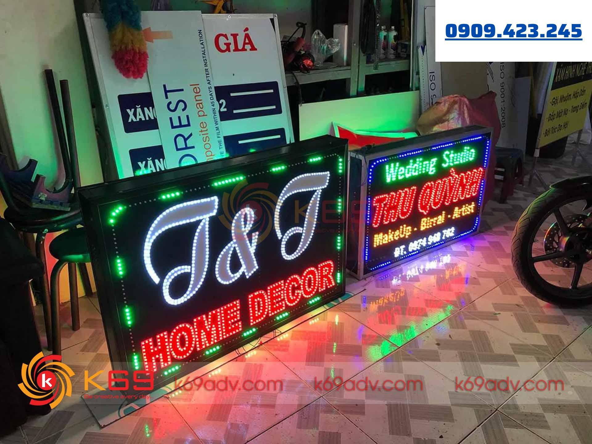 bảng hiệu tại quận Tân Phú bằng chất liệu đèn LED – LED Matrix