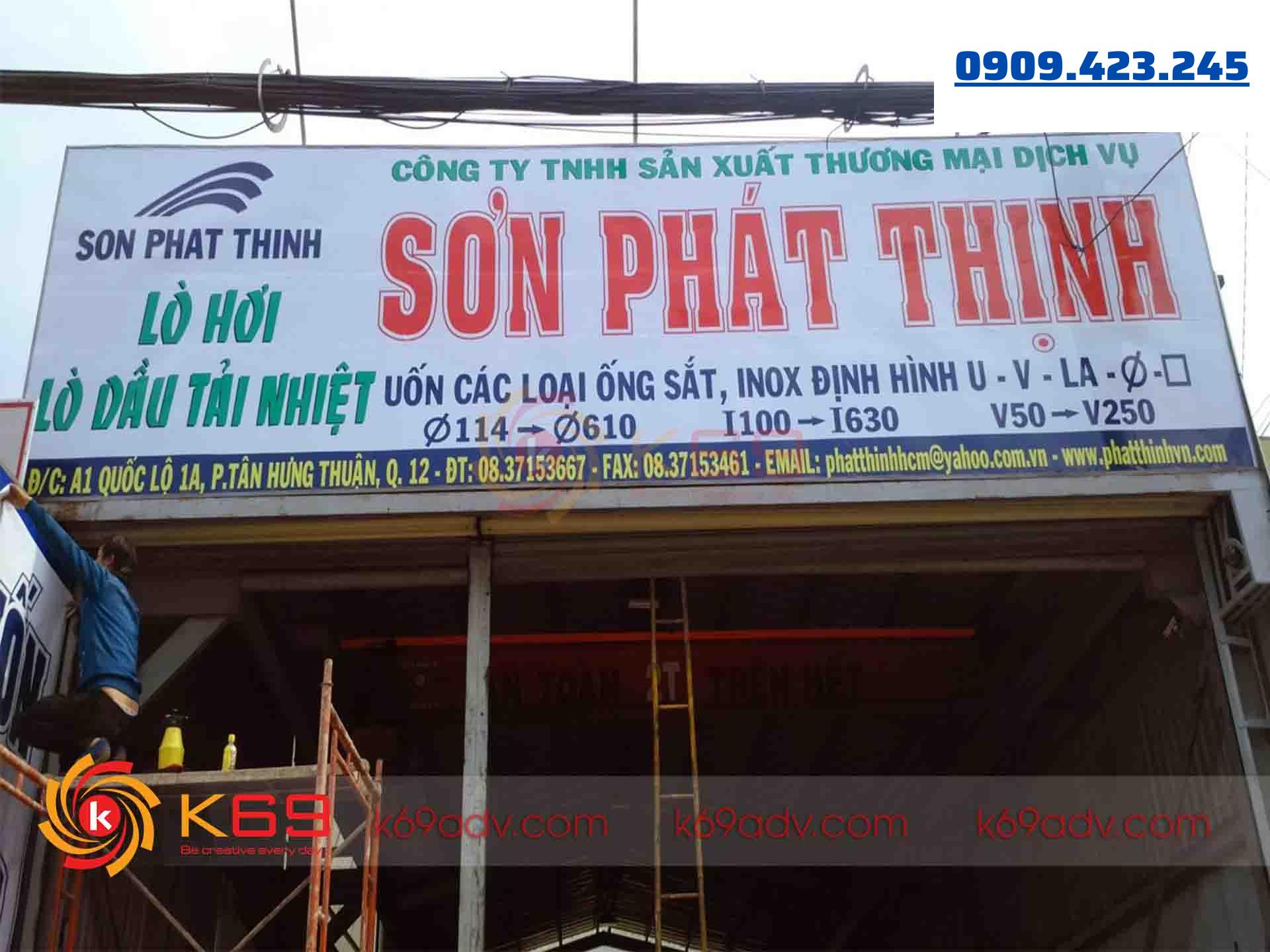 Mẫu bảng hiệu quảng cáo Hiflex quận 12 thi công bởi K69ADV
