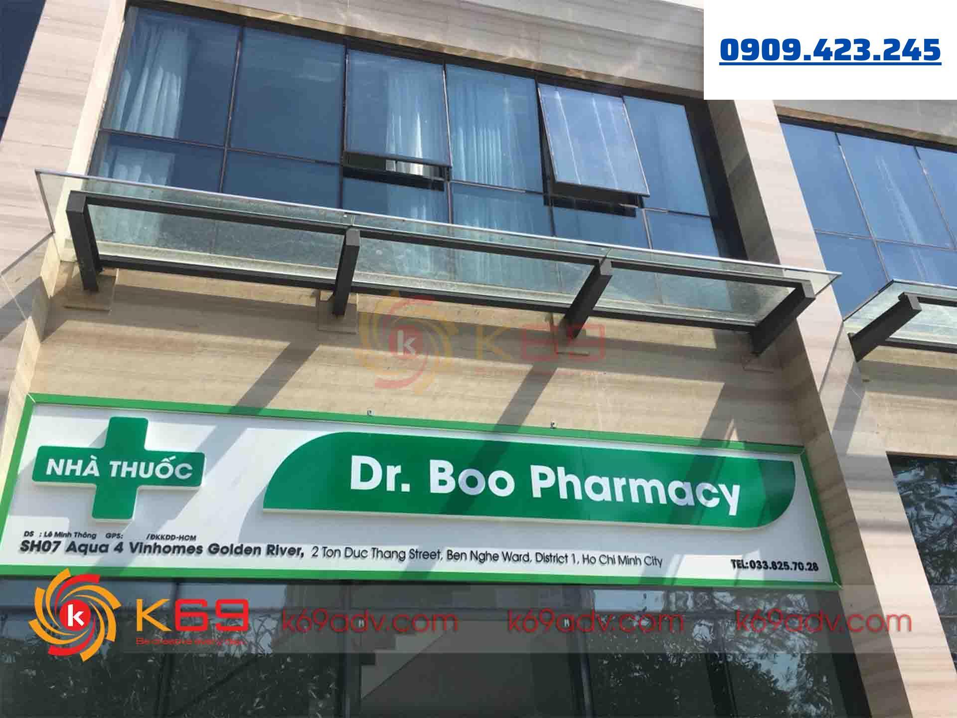 Làm bảng hiệu quảng cáo nhà thuốc tai quận 1 của K69ADV
