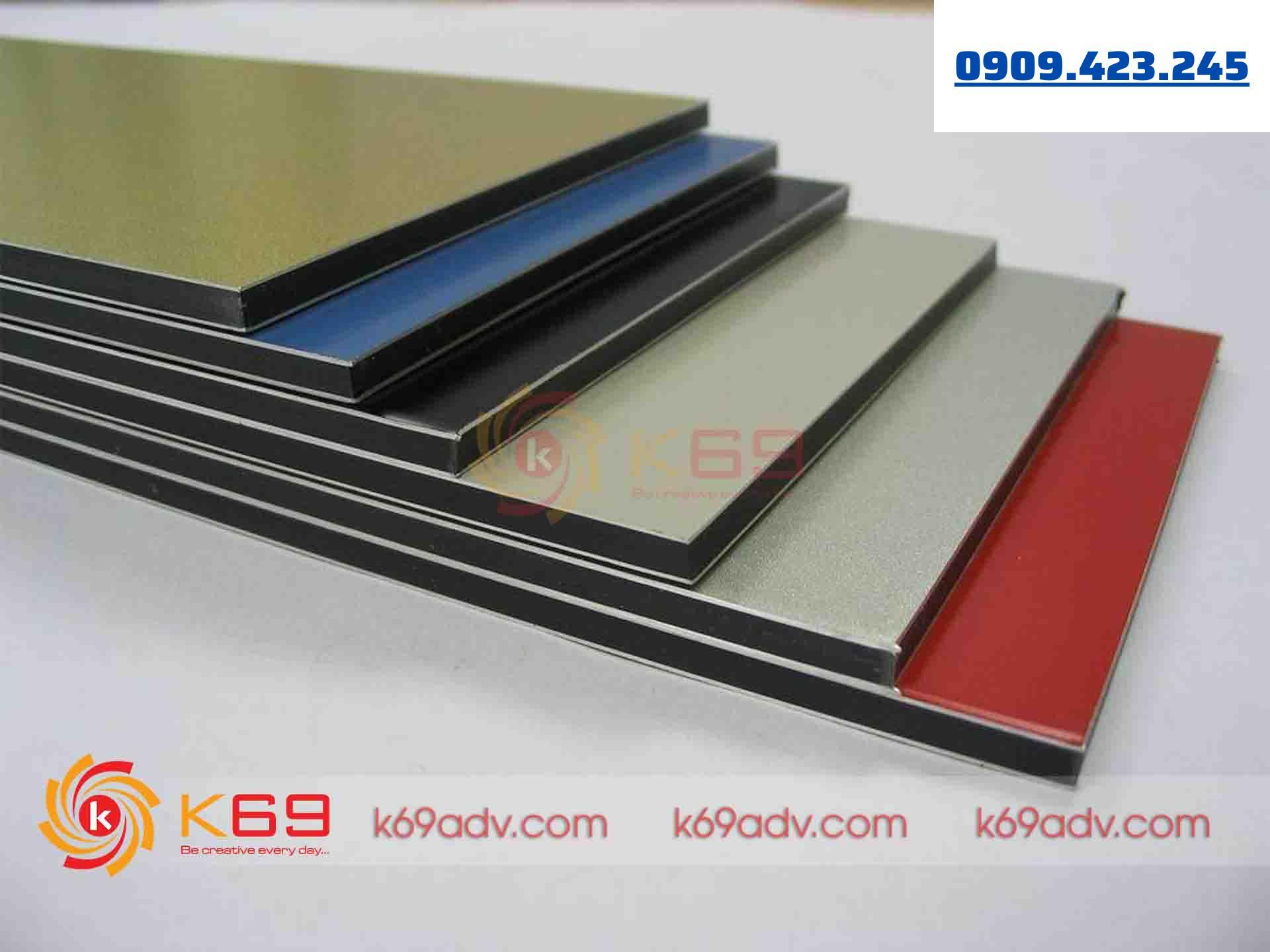 Chất liệu Aluminium để làm bảng hiệu Alu