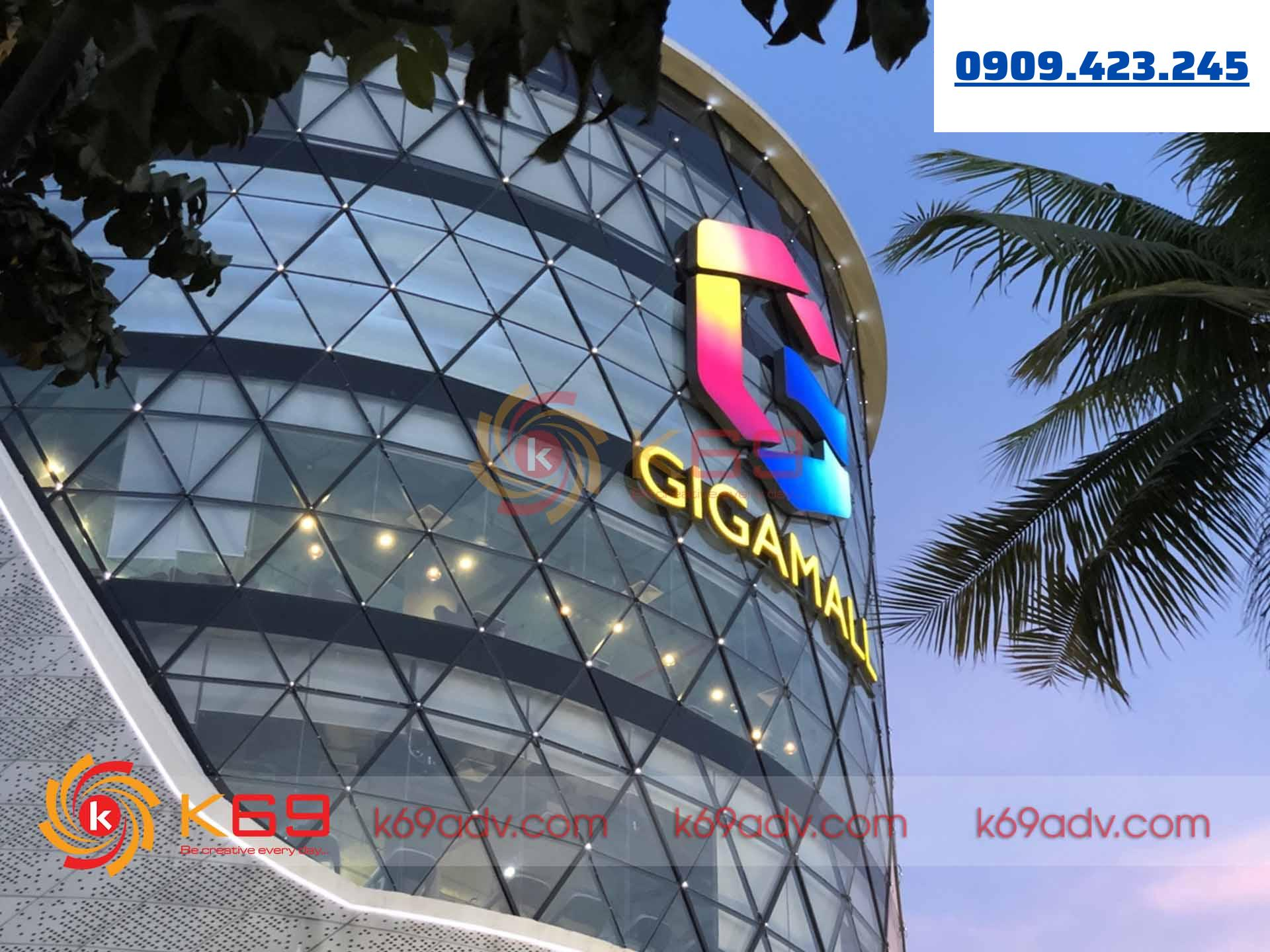 Làm bảng hiệu quảng cáo giga mall tphcm tại K69adv