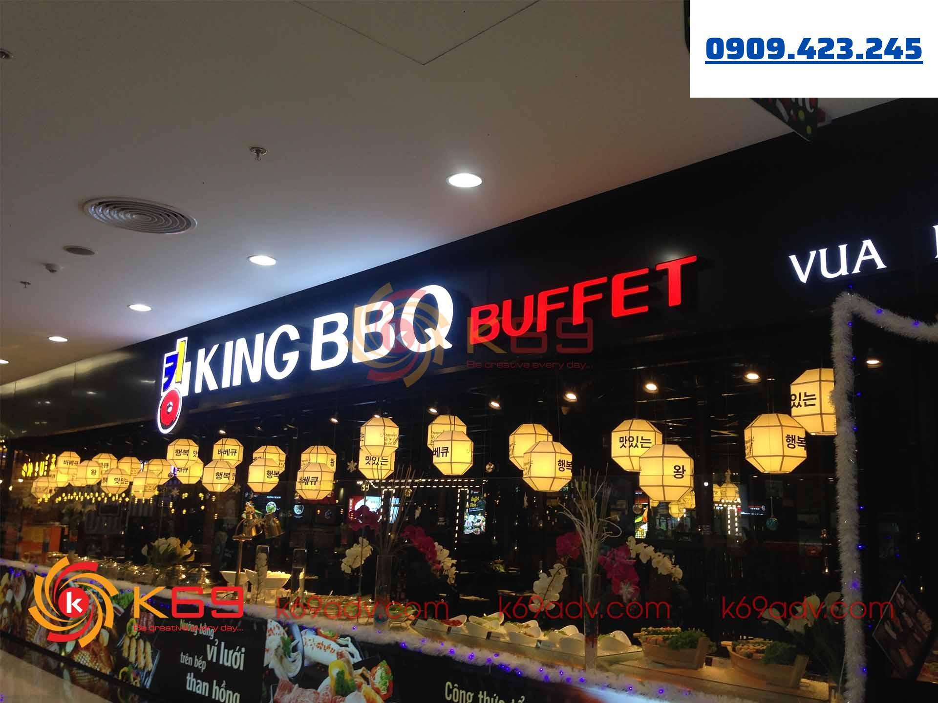 Làm bảng hiệu quảng cáo nhà hàng King BBQ
