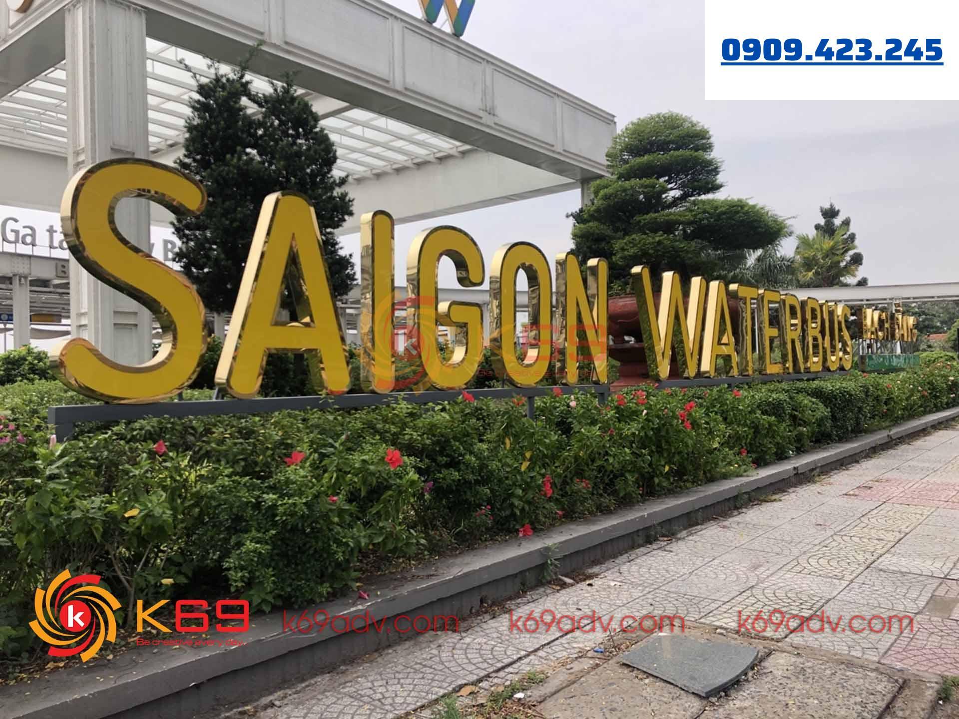 Làm bảng hiệu quảng cáo saigonwaterbus tphcm tại k69adv