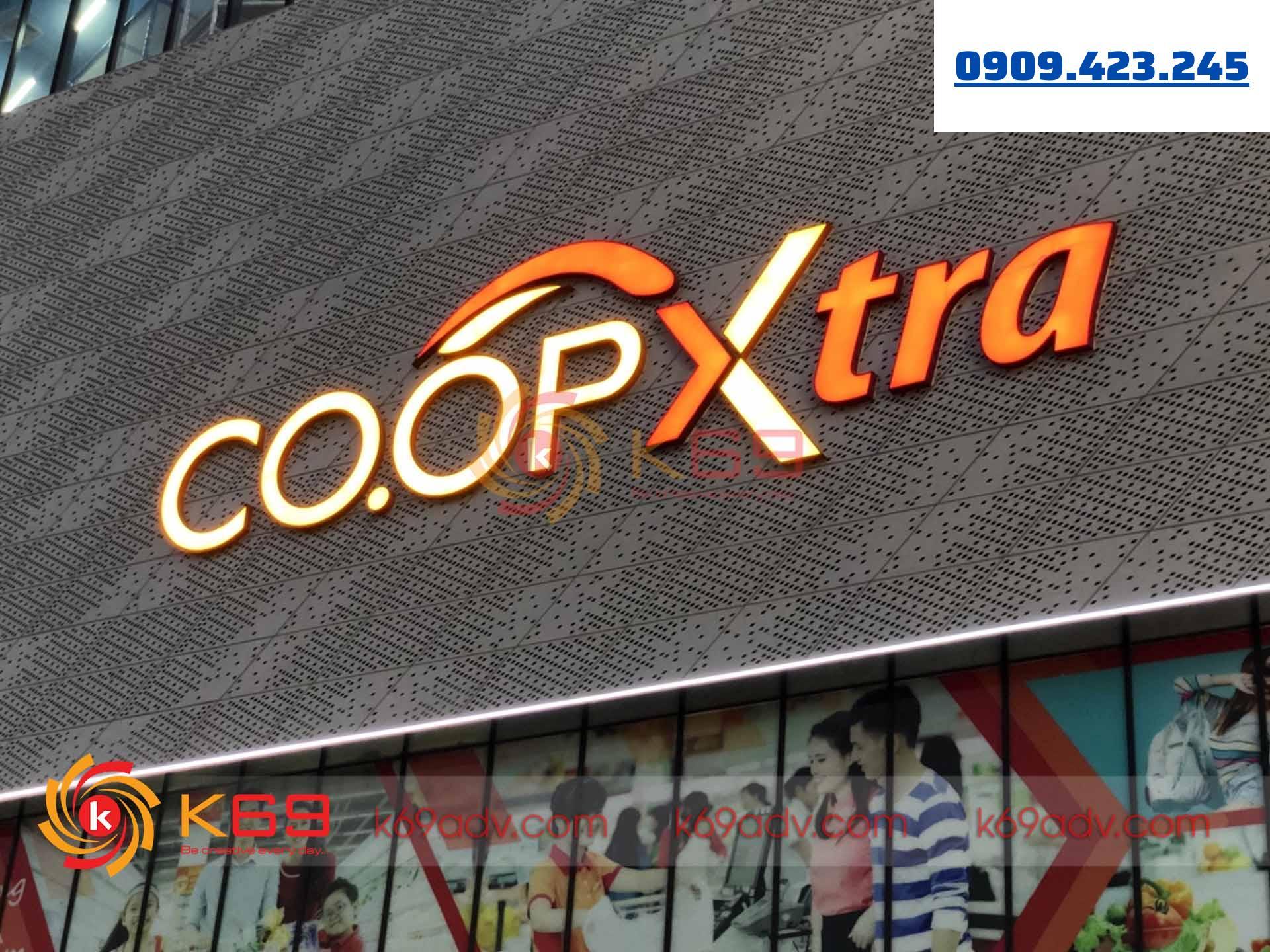 Làm bảng hiệu quảng cáo siêu thị coopxtra tại K69adv