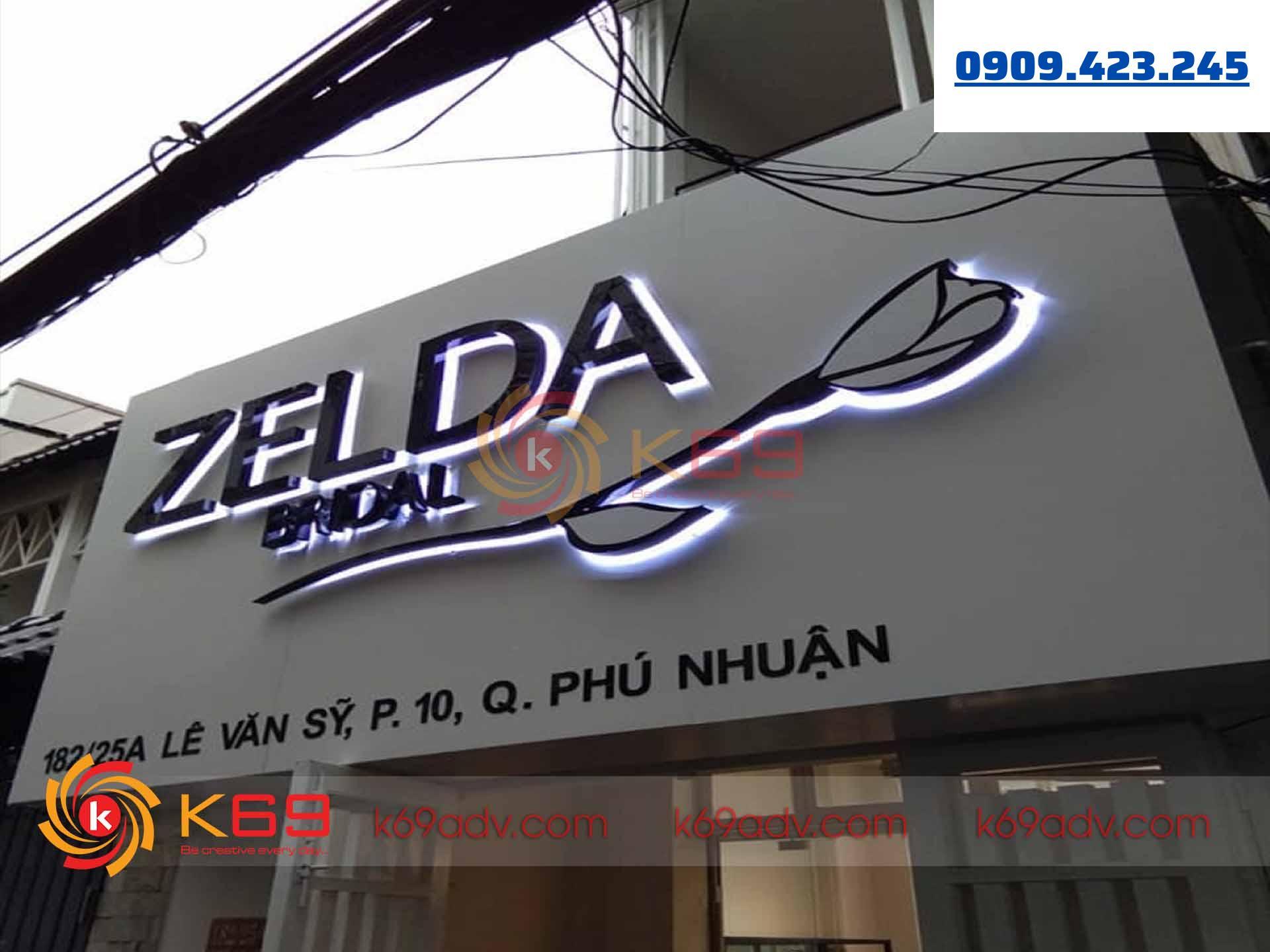 Làm bảng hiệu tại quận Phú Nhuận cho shop do K69adv thi công