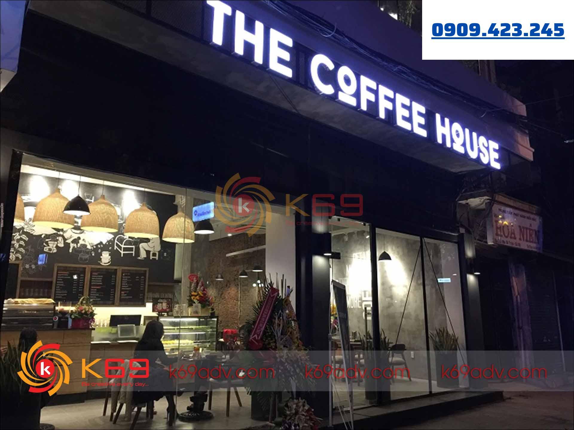 Làm bảng hiệu tại quận Phú Nhuận the coffee house do K69adv thi công