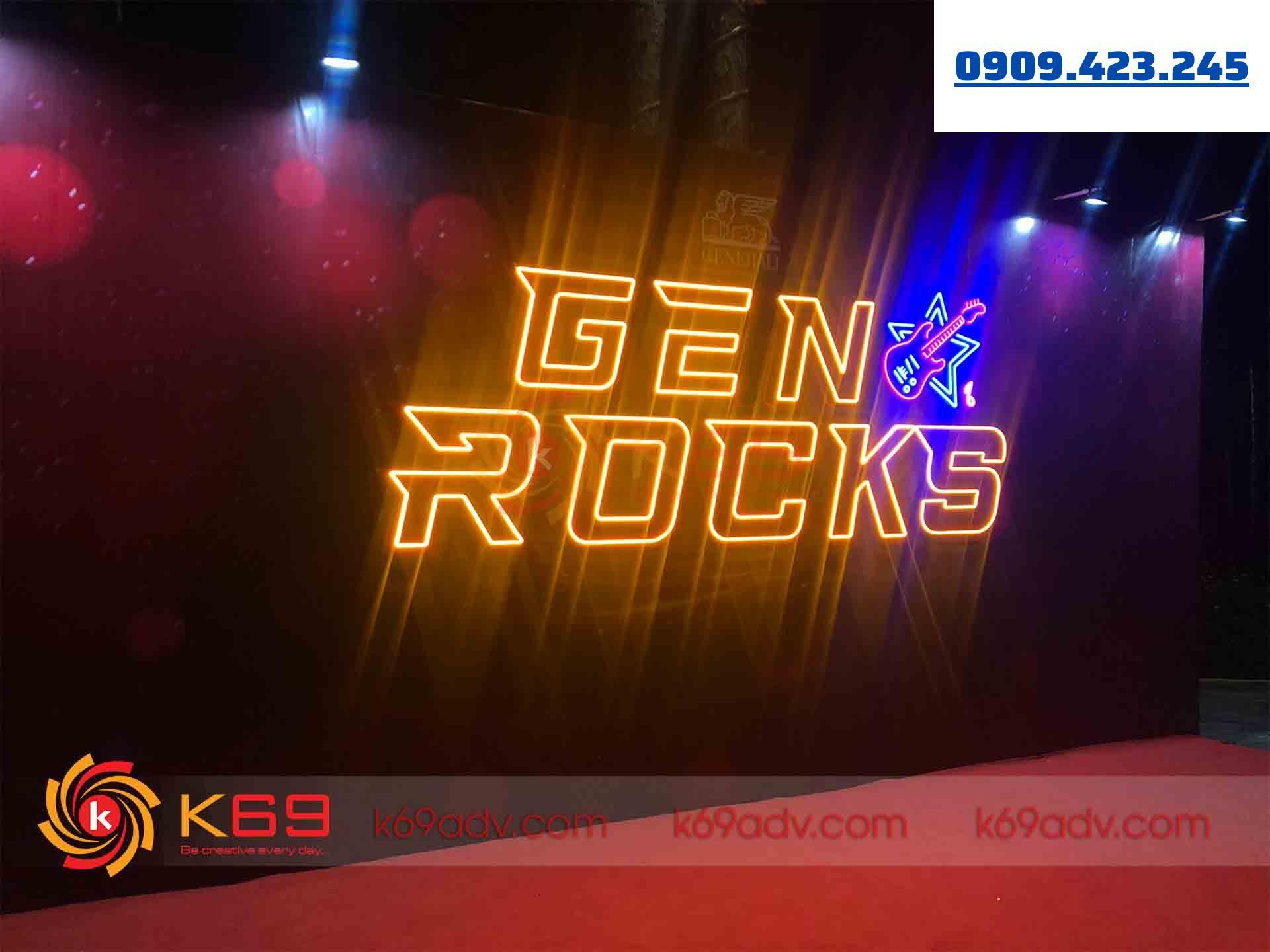 Mẫu bảng hiệu quảng cáo Neon Sign quận 12 thi công bởi K69ADV