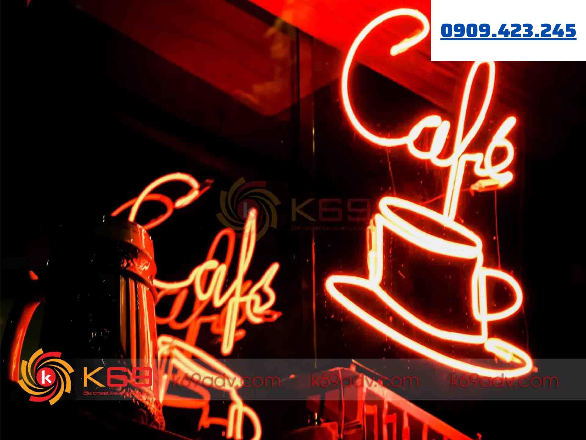 Ảnh thi công làm đèn neon sign cho quán cafe tại K69ADV