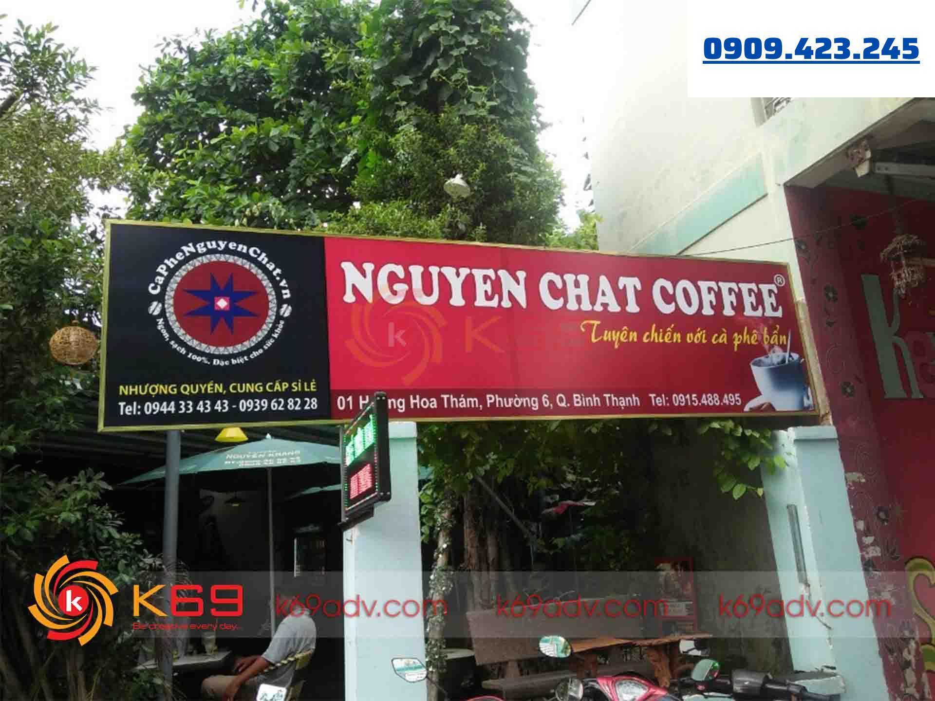 Mẫu bảng hiệu cafe đẹp chất liệu bạt Hiflex tại K69ADV