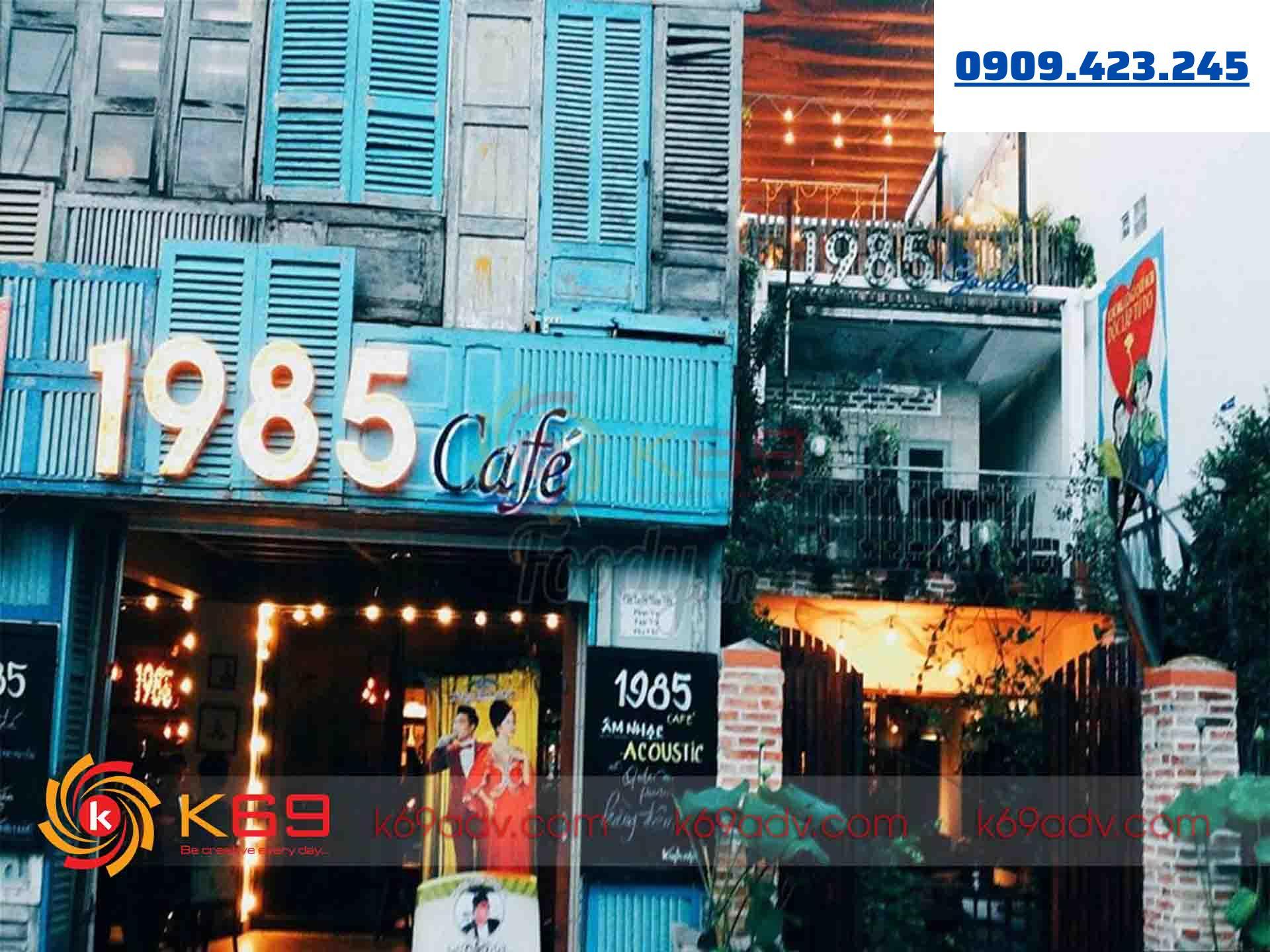 Mẫu bảng hiệu cafe đẹp chữ nổi đèn LED của K69ADV