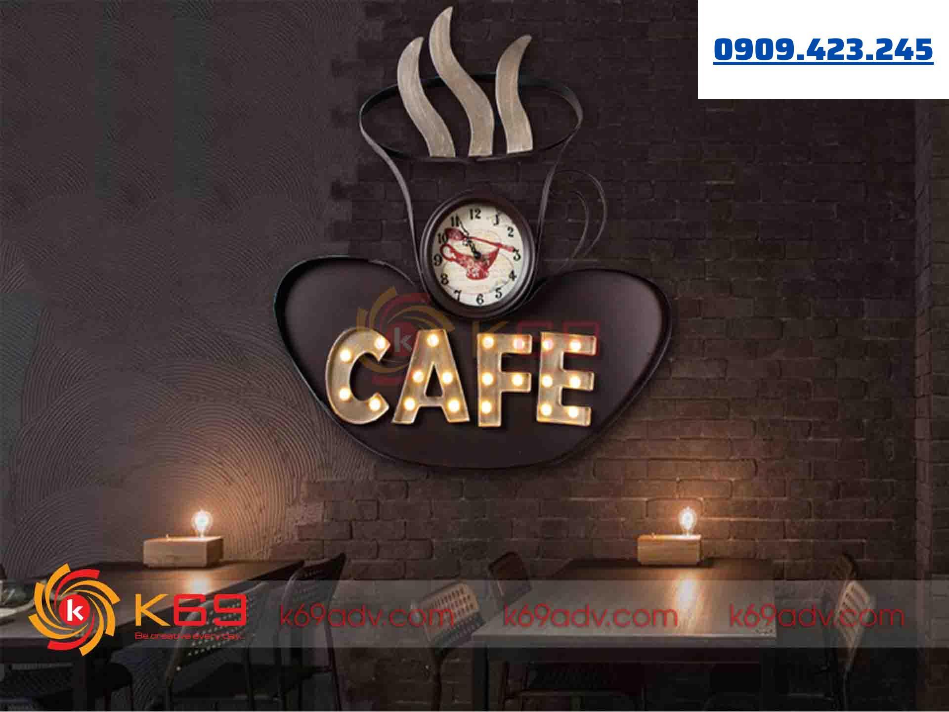 Mẫu bảng hiệu cafe đẹp đèn LED của K69ADV