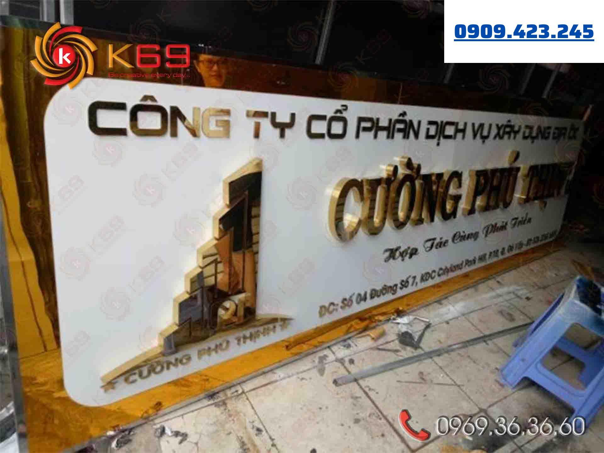 Biển quảng cáo Inox K69ADV