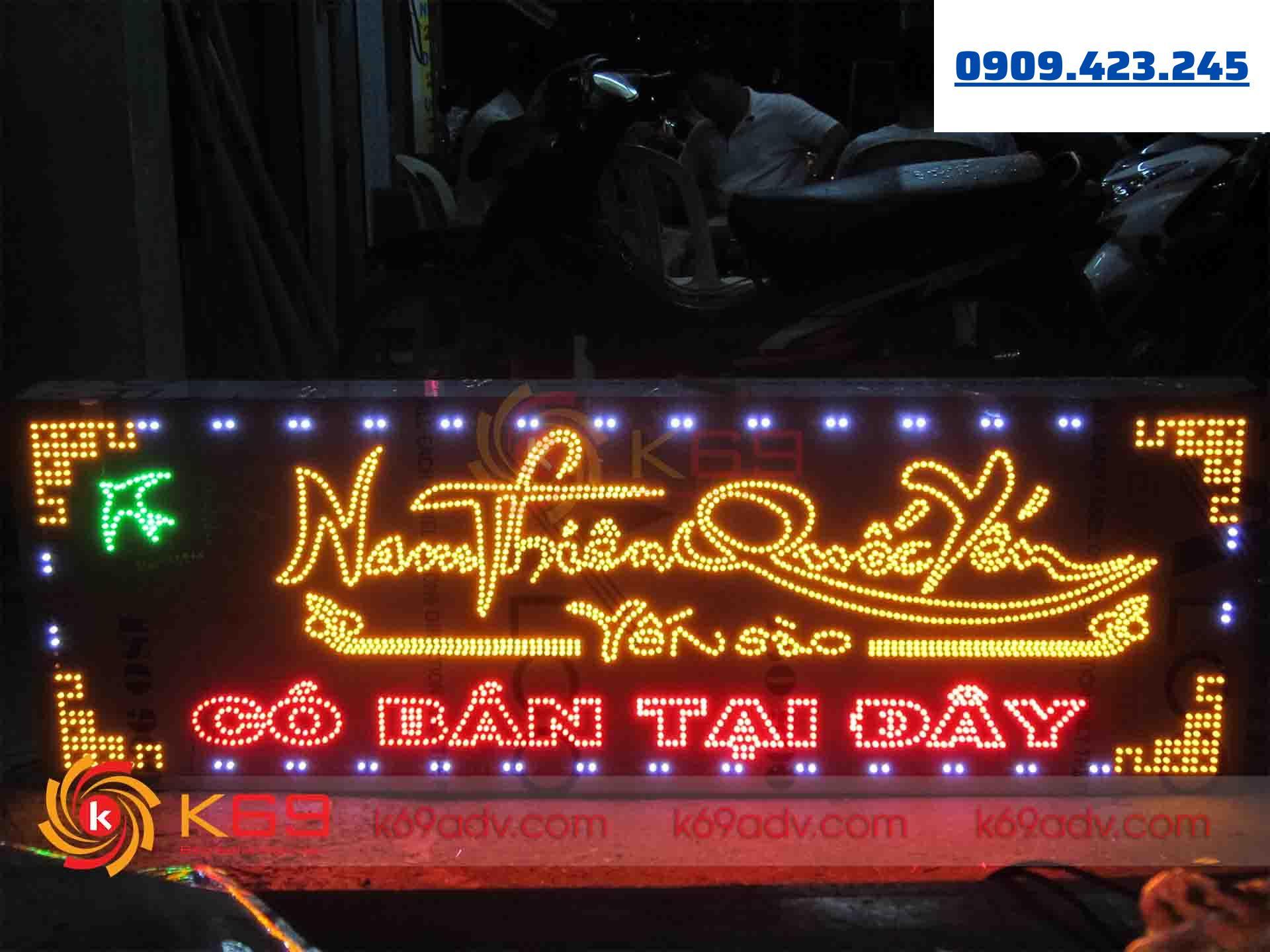 Mẫu làm bảng hiệu tại huyện Củ Chi - chất liệu LED