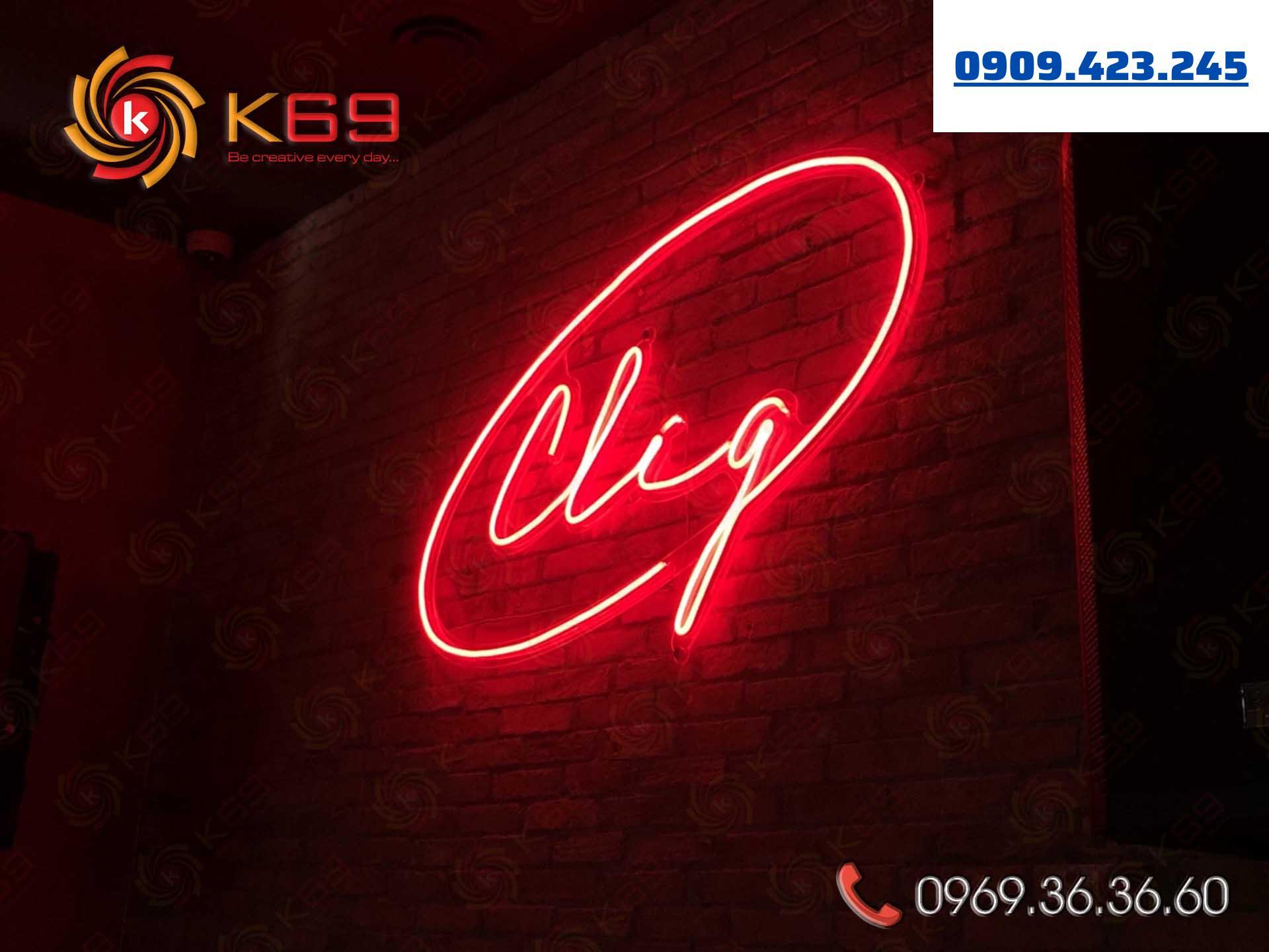 Làm bảng hiệu đèn neon sign tại K69adv