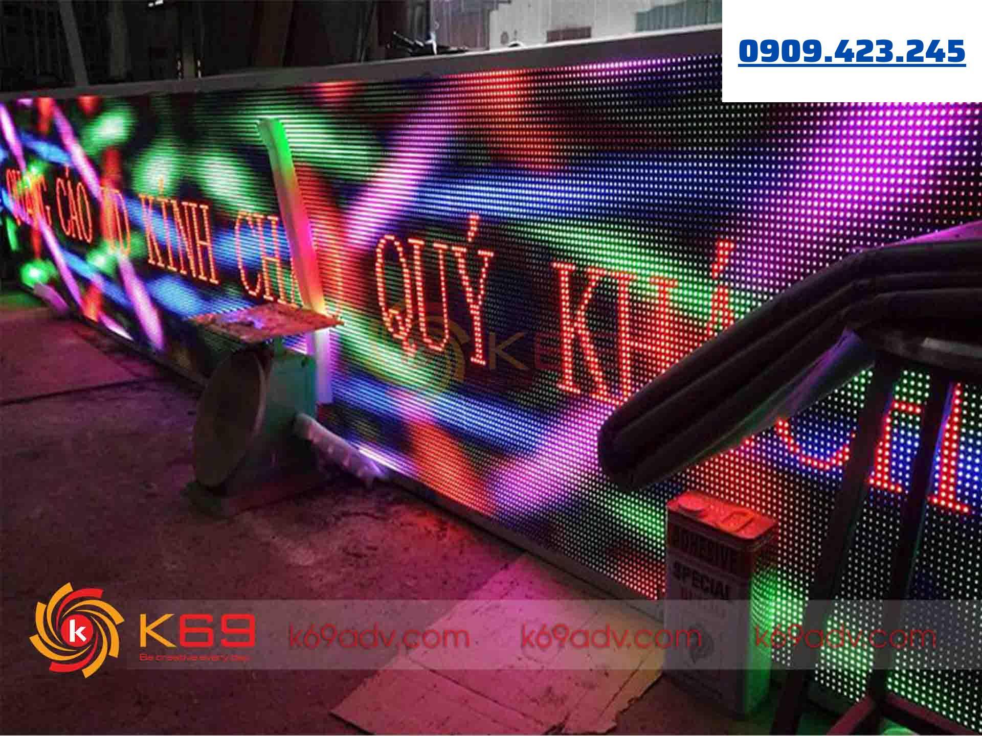 K69ADV chuyên làm bảng hiệu led ma trận uy tín - chất lượng cao