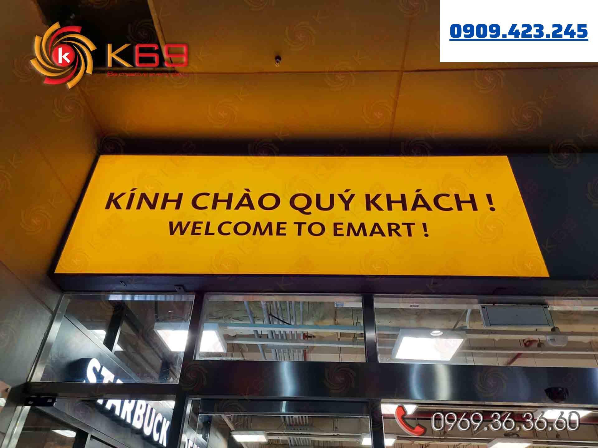Mẫu bảng hiệu siêu thị emart đẹp tại K69adv