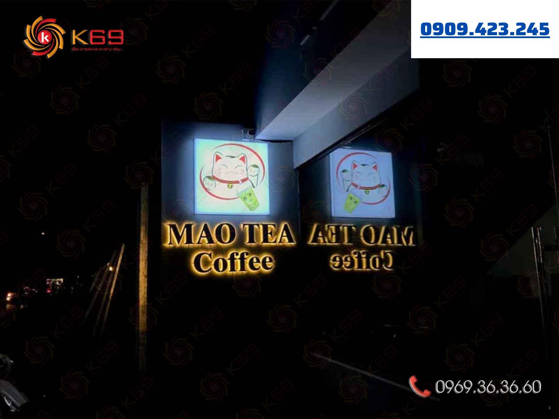Mẫu bảng hiệu trà sữa MaoTea tại K69adv