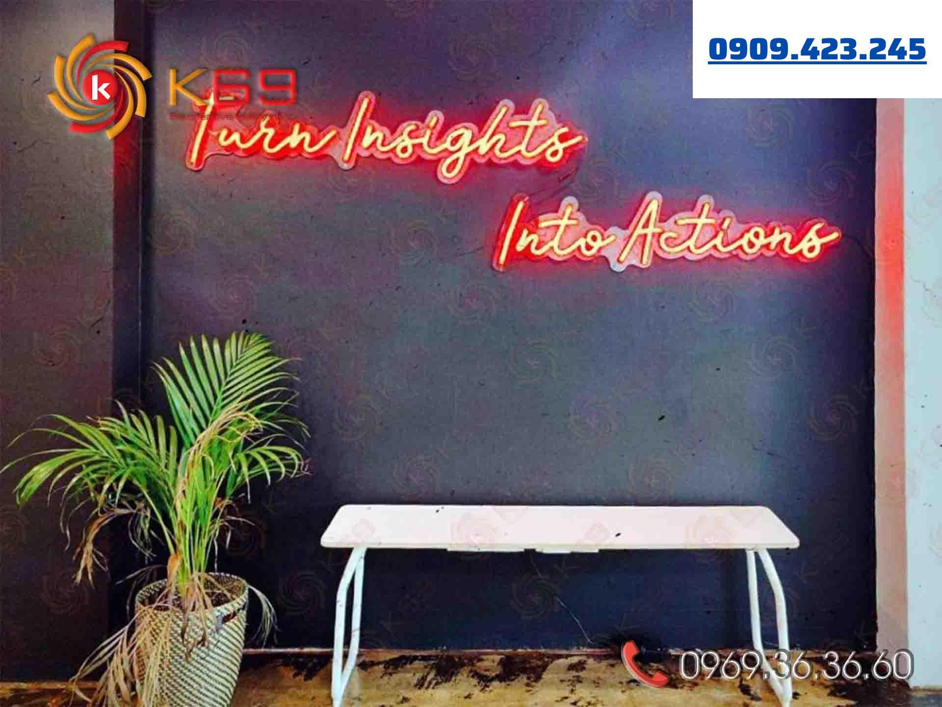 K69ADV chuyên làm đèn Neon Sign giá rẻ - uy tín nhất