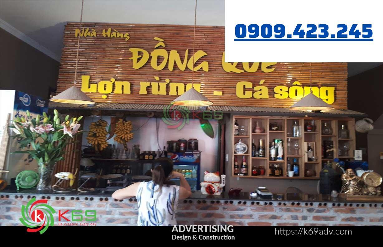 Biển quảng cáo nhà hàng